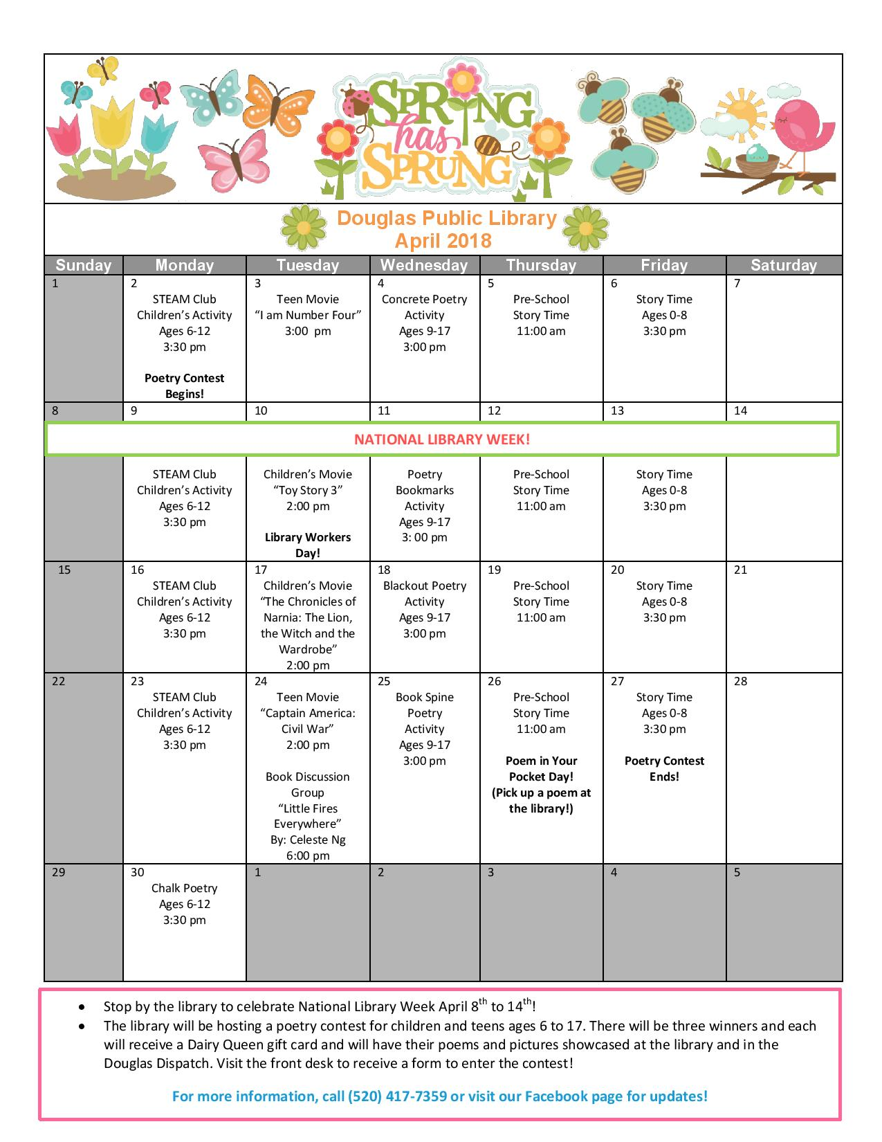 April 2018 Calendar of Events-page-001