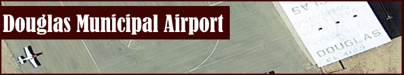 Douglas Municipal Airport Banner Photo with Plane and Landing Strip