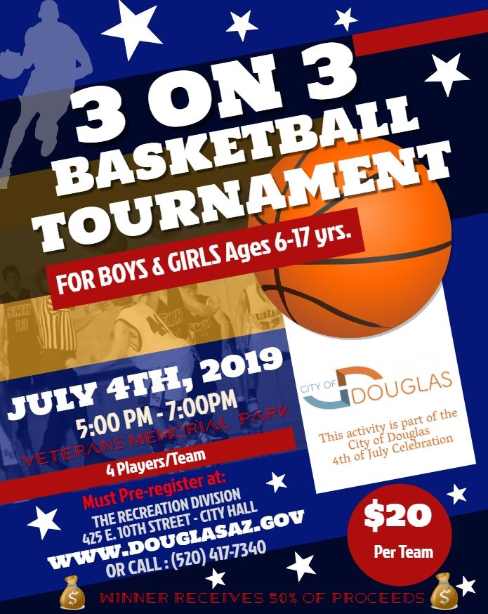 3 on 3 Basketball Tournament _Flyer